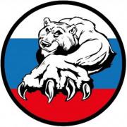 Наклейка «РУС Триколор Медведь»