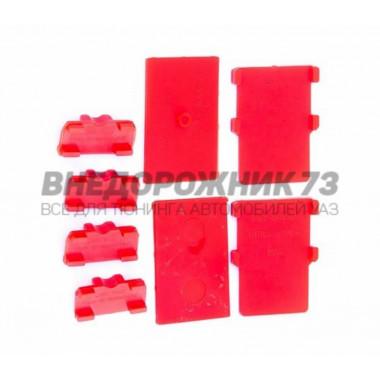 Прокладки рессоры УАЗ 3163-2912080/-10/-20 межлистовые, к-т 8 шт «полиуретан» (антискрип)