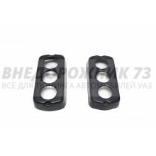 Накладки (защита) задних фонарей УАЗ 469,452 круглые (К-т 2шт)