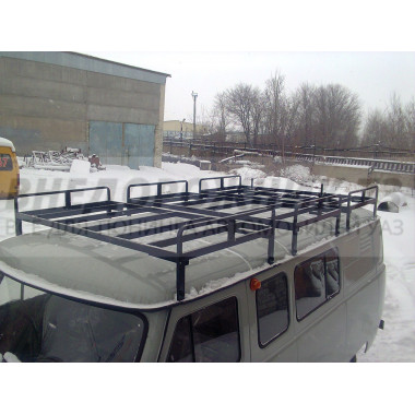 Экспедиционный багажник Круиз с полозьями для шатра на УАЗ 452