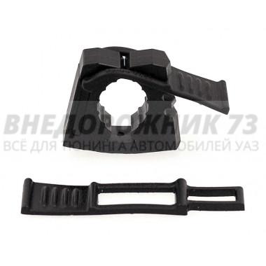 Крепление лопаты (под 1 болт, поперечное) в блистере черное (полиуретан)