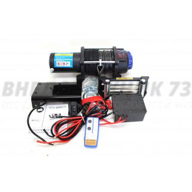 Лебедка электрическая 12V Electric Winch 5000lbs / 2268  кг кевларовым тросом