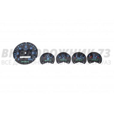 Шкалы приборов УАЗ 469, 452 (синяя подсветка)