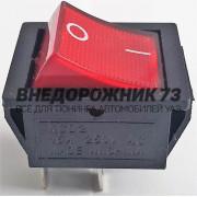 Переключатель без фиксации квадратный с подсветкой