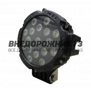 Фара светодиодная CH013В 51W 17 диодов (черный корпус)
