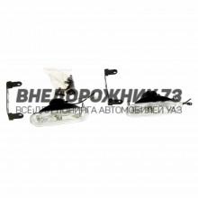 Противотуманная фара, овальная, 12*3,5 см, цоколь H3, 2 шт. стекло белое, модель AS004