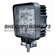 Фара светодиодная CH007 27W 9 диодов (квадрат)
