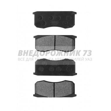 Колодка тормозная дисковая КиТ (к-т 4 шт.) (KNU-3501090-62) с противошумн. покрытием