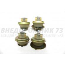 Подушки крепления двигателя и агрегата УАЗ 469, 452, дв. УМЗ-421, 417, ЗМЗ-402 полиуретан (4 шт)
