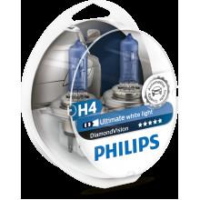 Комплект ламп Philips H4 60/55W Dimond Vision
