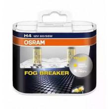 Комплект ламп H4 12V 60/55W P43t FOG BREAKER +60% больше света, 2600К