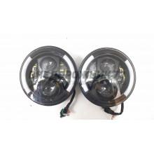 Фара светодиодная головная встраиваемая УАЗ, Нива (комплект 2 шт) LBS78 60W