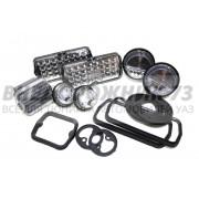 Комплект светодиодных фонарей с уплотнителями УАЗ 3151,452 «серые»