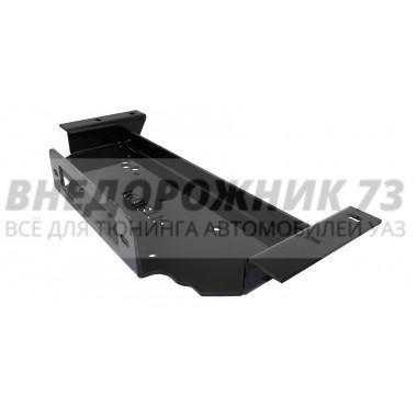 """Площадка """"RedBTR"""" для скрытой установки лебедки под номер в бампер УАЗ 3163 Патриот"""