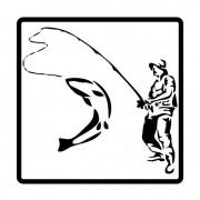 Наклейка «Рыбак-3» 10*10см