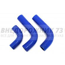 Патрубки силиконовые радиатора УАЗ 469 дв. 421 (100 л/с) (3 шт)