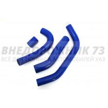Патрубки силиконовые радиатора УАЗ Патриот дв. Iveco (4 шт)