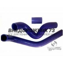 Патрубки силиконовые радиатора УАЗ 3160, Патриот 100 л/с дв. ЗМЗ 409 с кондиционером силикон (3 шт)