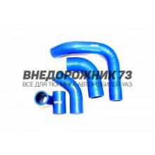 Патрубки силиконовые радиатора ГАЗ 3110, УАЗ дв. 402 (5 шт к-т)
