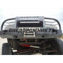 "Бампер ""Т-34-4"" передний усиленный на УАЗ Патриот"