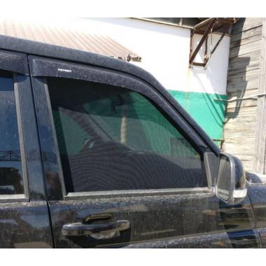 Шторки каркасные на передние окна УАЗ Патриот (2 шт)
