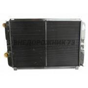 Радиатор охлаждения УАЗ Патриот под кондиционер 2-х рядный медный 3163-1301010-30