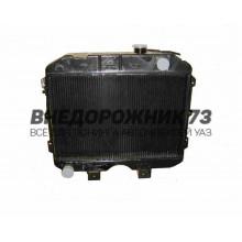 Радиатор охлаждения УАЗ 3-х рядный (ШААЗ) 3741-1301010-04