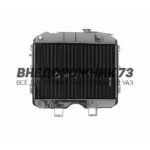 Радиатор водяного охлаждения 2-х рядный (МЕДНЫЙ) 3741-00-1301010-95