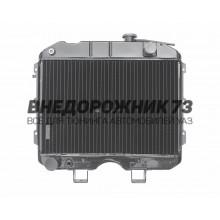 Радиатор водяного охлаждения 3-х рядный (ШААЗ) МЕДНЫЙ