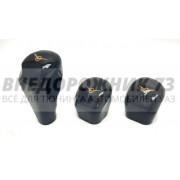 Ручки КПП и РК УАЗ 469, 3151, 452 Буханка под пальцы с логотипом УАЗ (к-т 3 шт)