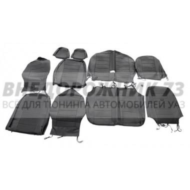 Чехлы сидений Хантер (черная экокожа) завод