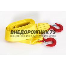 Буксировочный ремень Tplus 8/13 т 4.5 м (экстрим класс) Крюк/Крюк