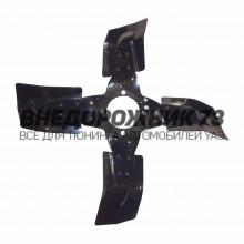 Вентилятор в сборе (металл.) под гидромуфту 4- лопастной